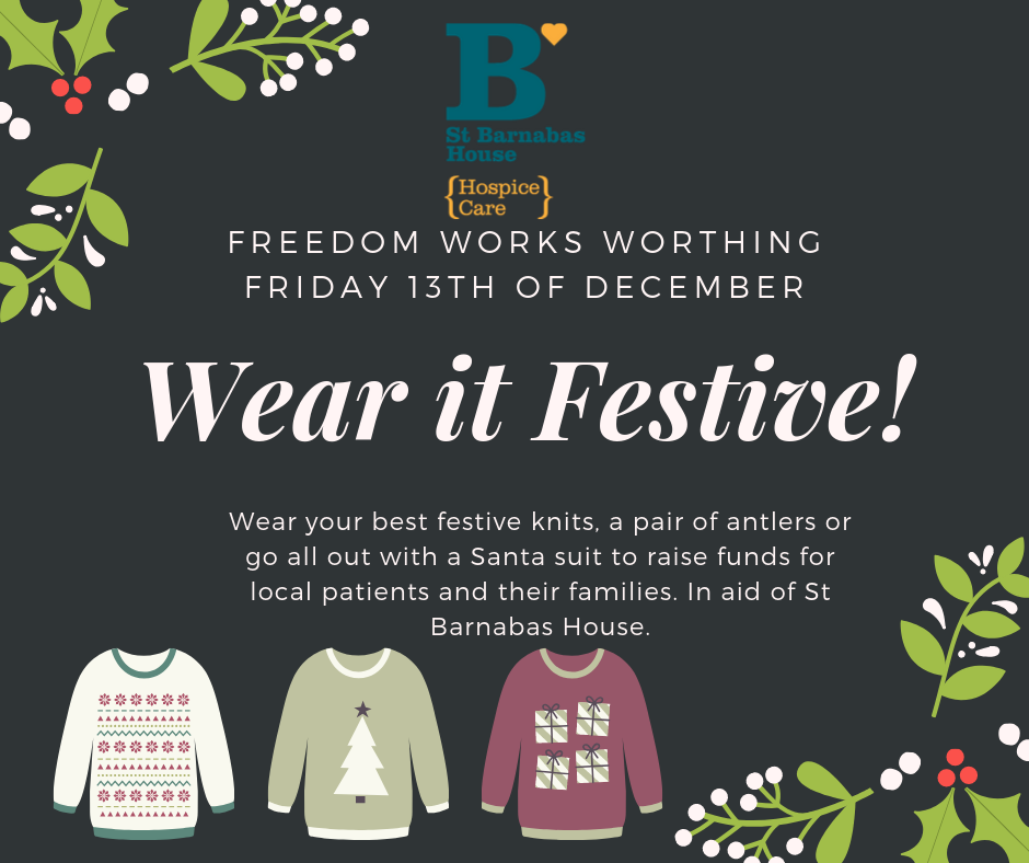Wear it Festive Worthing - In Aid of St Barnabas House