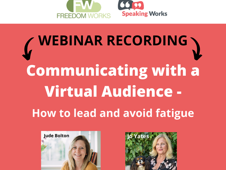Communicating with a Virtual Audience - How to lead and avoid fatigue