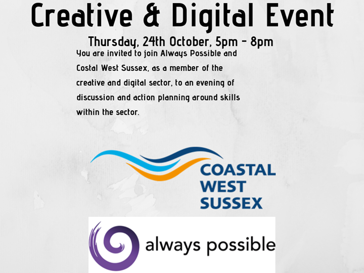 Creative & Digital Event with Always Possible & Costal West Sussex